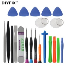 DIYFIX 21 in 1 Mobile Phone Repair Tools Kit Spudger Pry Opening Tool Screwdriver Set for iPhone X 8 7 6S 6 Plus Hand Tools Set(China)