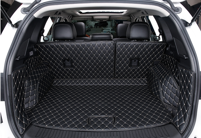 Migliore qualità! tappetini tronco speciale per la Nuova Renault Koleos 2017 tappeti impermeabili durevoli boot cargo liner mat, Trasporto libero