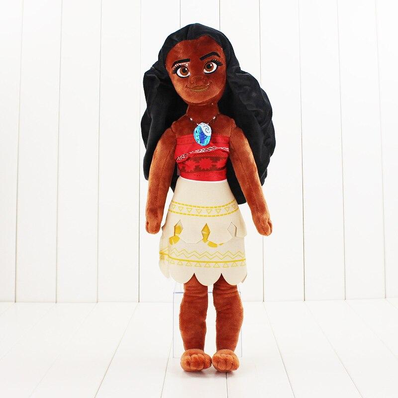 50 cm Moana Prinzessin plüsch cartoon puppe spielzeug Maui Chef gefüllte plüsch spielzeug Geschenk für Weihnachten