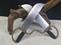 Hot Wing Chun Butterfly Swords Bart Cham Dao wingchun double swords copper handle with carving included leather bag collection