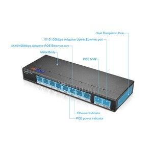 Image 5 - BESDER 1/802 af/at 8CH POE 스위치 10 포트 10/100 Mbps CCTV 스위치 250 신호 전송 8 POE 포트 1 NVR + 1 업 링크 포트 123.2W