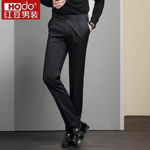 2018 hodo perfume masculino pantalon slim fit Homme traje masculino Delgado  hombres vestido Pantalones traje Slim cb8fc873fc4