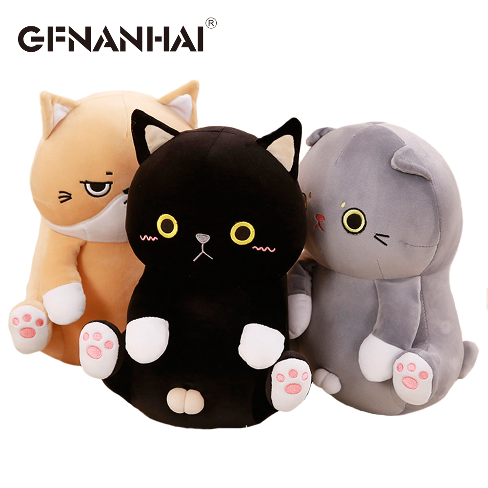 1pc 35cm kawaii Kitten plush toy stuffed software cute animal cat plush pillow baby cartoon dolls birthday gift for girls