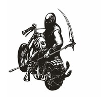 Motorcycle Sticker Vehicle Skull Decal Classic Punk Posters Vinyl Wall Decals Autobike Parede Decor Mural Autocycle Sticker