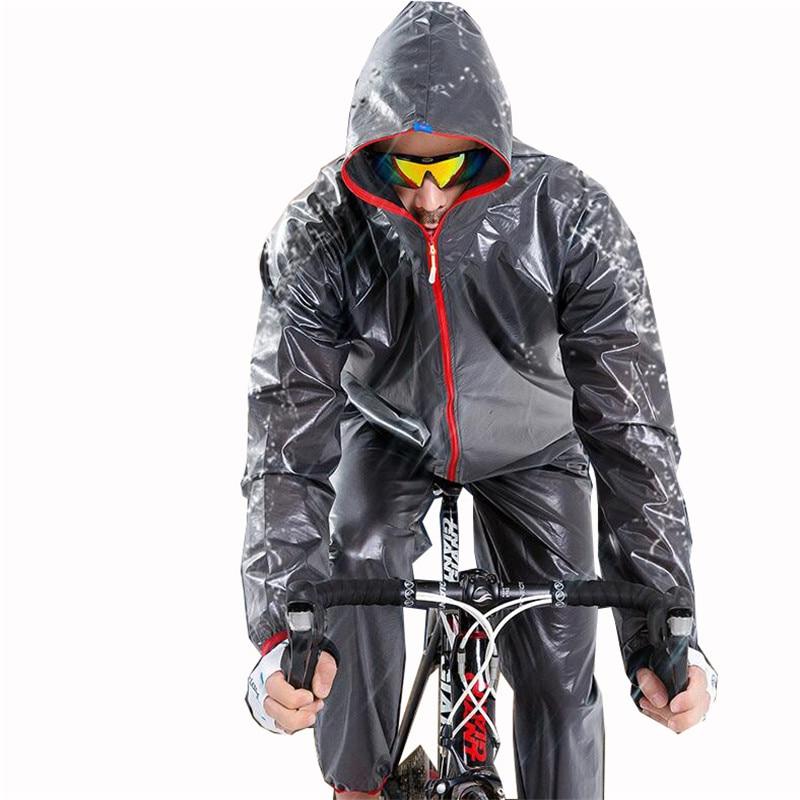 Rain Jacket Outdoor Raincoat Waterproof Cycling Jacket Men Bicycle Bike Hooded Long Sleeve Sport Windproof Cycle Clothing XXXL