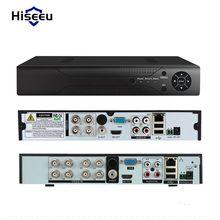 Hiseeu 4CH 8CH Analogique Caméra DVR Full HD SUR P2P Nuage H.264 VGA HDMI vidéo enregistreur RS485 Audio dissipation de la chaleur de métal BNC