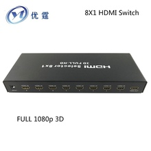 YOUTING YT-HSW801 8X1 HDMI Switch 1080P With the infrared remote control manual switch 8 INTO 1 OUTPUT HDMI SWITCHER