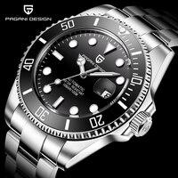 PAGANI Ontwerp Merk Luxe Mannen Horloges Automatische Zwarte Horloge Mannen Roestvrij Staal Waterdichte Business Sport Mechanische Horloge
