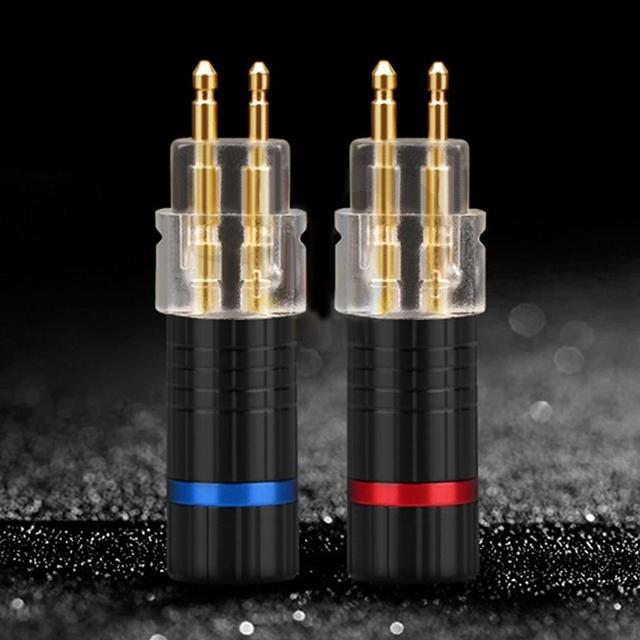 2 Pcs Sennheiser Kulaklık Kablosu için Pin fiş konnektörü HD650 HD600 HD580 HD25 sıcak