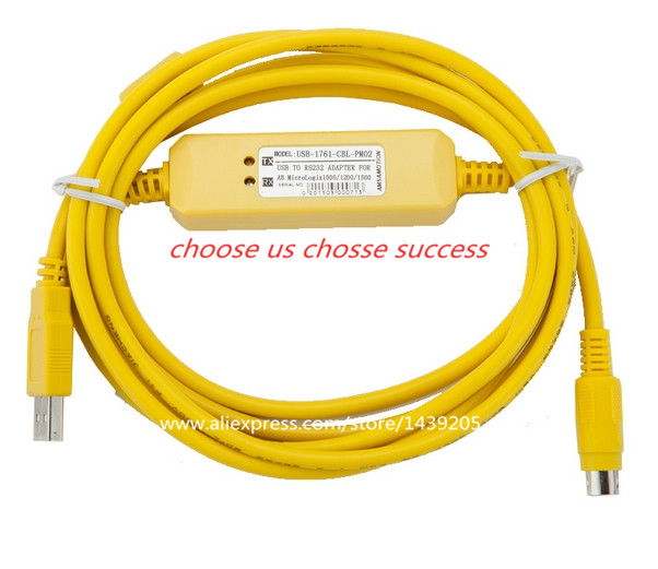 High quality USB PLC Programming Cable For Allen Bradley Micrologix ...