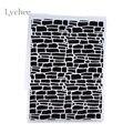Plastic Embossing Folder For Scrapbook DIY Album Card Tool Plastic Template Irregular Bricks Design