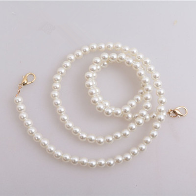 NEW Brand Pearl Strap You Straps For Bags Handbag Accessories Purse Belt Handles Cute Gold Chain Tote Women Parts Silver
