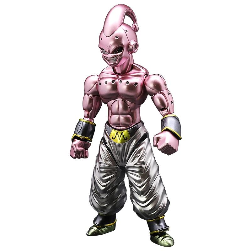 Hot sale Original Dragon Ball Super Saiyan Ultra Instinct Goku Majin Buu Migatte Metal Coloring Figure Model Collection toys все цены