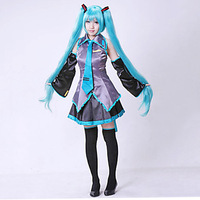 Hatsune Miku haute qualité Vêtements Hatsune Miku Cosplay Formule halloween Cosplay Costume kit Japonais Mi Robe Ensemble