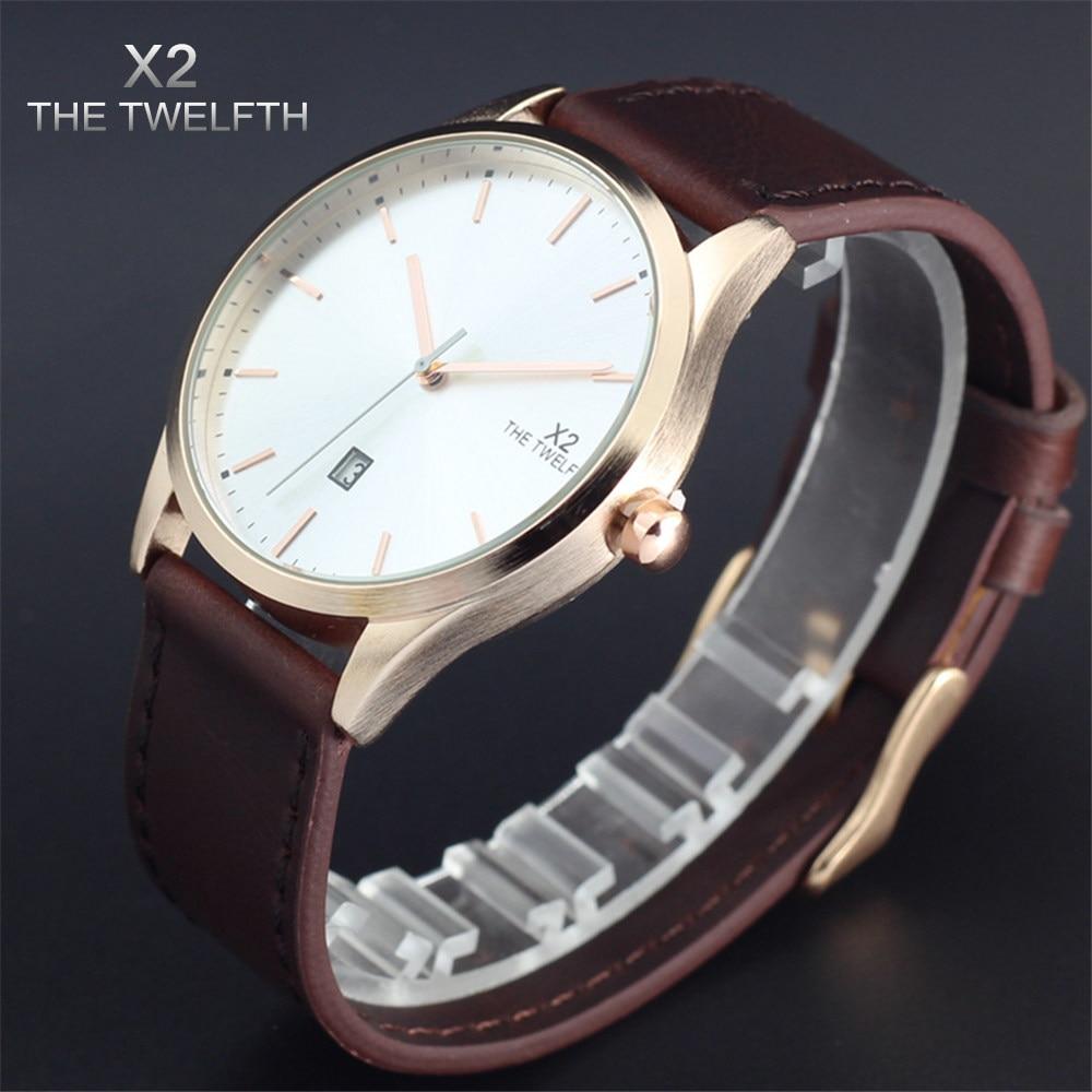 montre homme marque de luxe new fashion casual men watch x2 the twelfth brand watches quartz