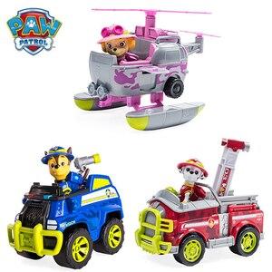 Originele Poot Patrouille Jungle Rescue Patrol Auto Serie Actiefiguren Speelgoed Chase Marshall Zuma Schattige Puppy Hond Cartoon Model Kids speelgoed(China)