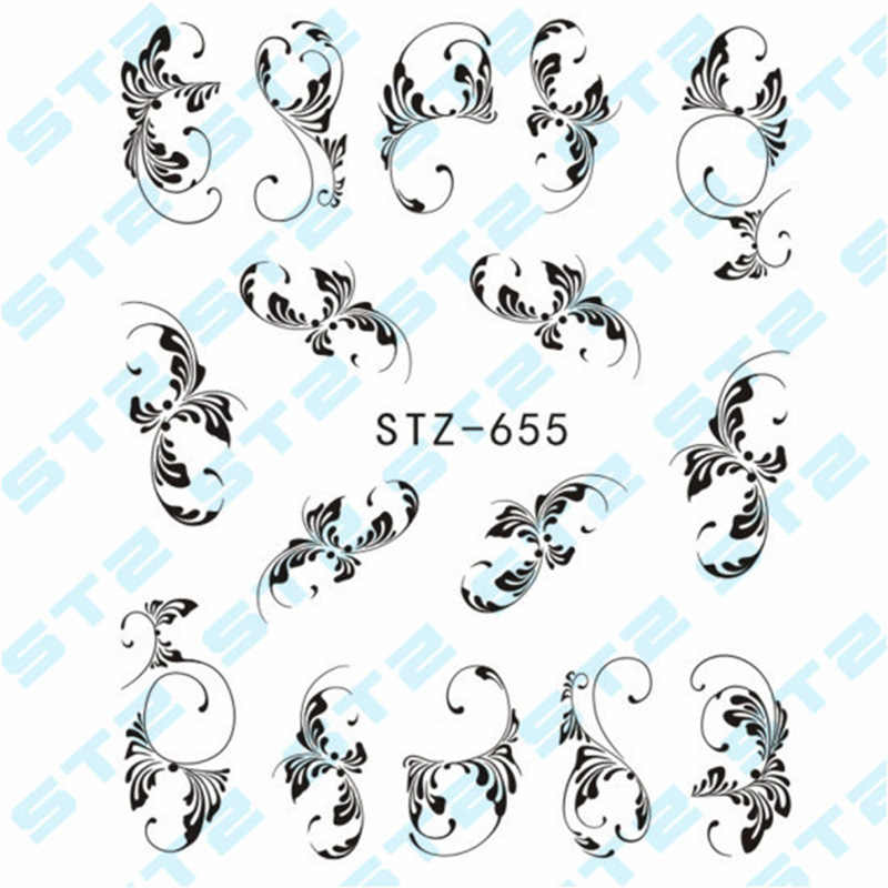 3 pcs เล็บสติกเกอร์ลูกไม้สร้อยคอสร้อยข้อมือออกแบบเล็บ Art Decals เคล็ดลับ DIY เล็บเครื่องมือ YUF99