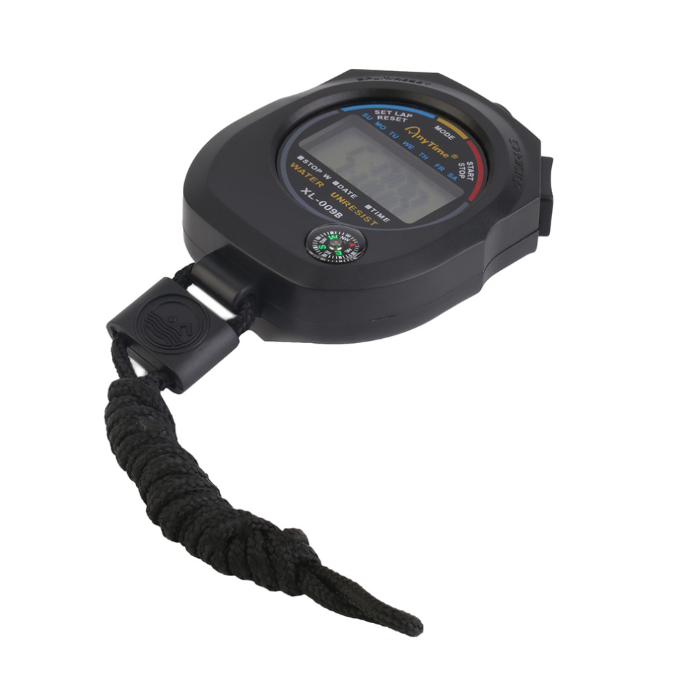 Sport cronometro digitale professionale palmare digitale LCD - Strumenti di misura - Fotografia 5