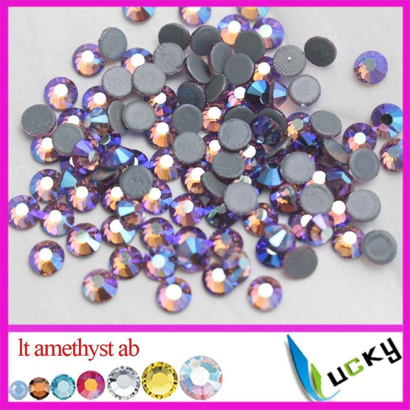 4mm Great Quality Hot Fix//Iron On Light Amethyst Purple Flatback HOTFIX SS16