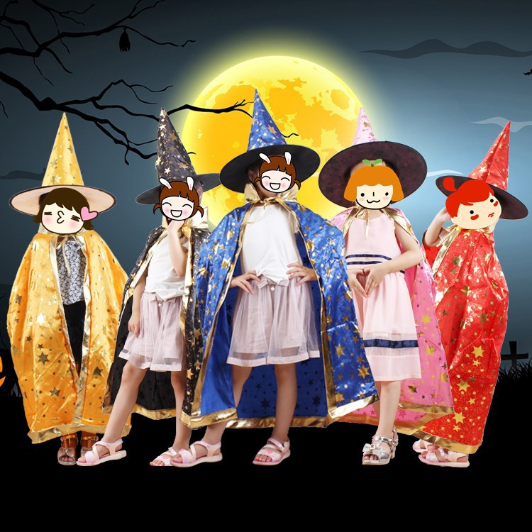 Halloween Masquerade, Cloak, Children Undefineds Dance Party, Costume, Wizard Undefineds Cape, Hat, Suit, Wholesale