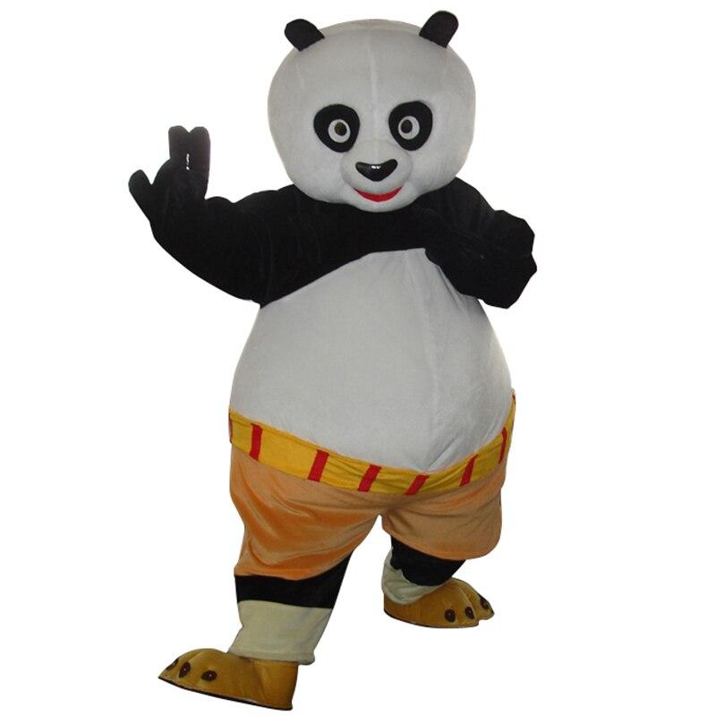 Высокое качество взрослого кунг-фу Панда Маскоты костюм кунг-фу Панда Необычные платья Бесплатная доставка