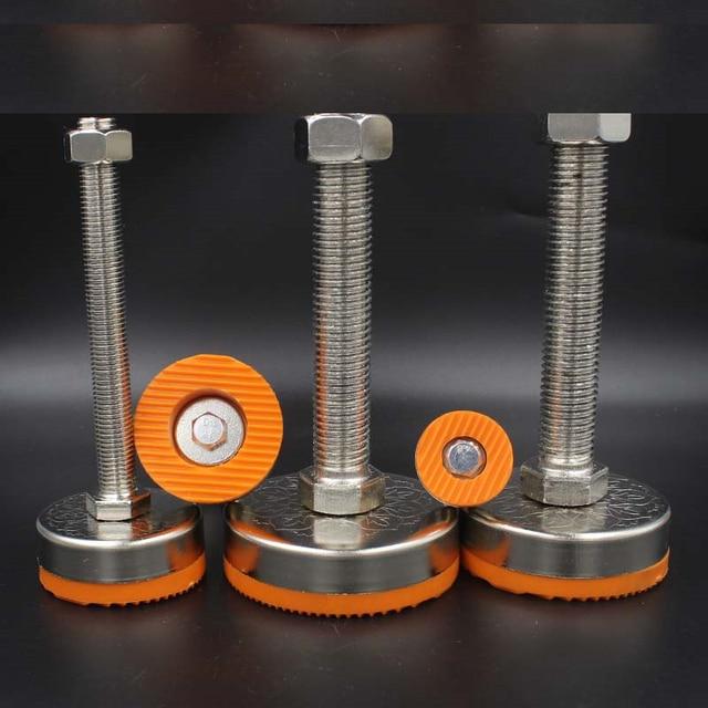 Pieds réglables de glissement pour meubles, M10/12/14/18/20 Dia, pieds réglables, 40mm/50mm/60mm, set de 2