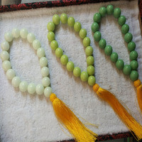 Luminous Stone Bracelet Blue Green Light 18MM Prayer Beads Luminous Stone Bracelet Luminous Stone Bracelet