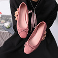 2017 Spring Butterfly Knot Casual Flat Shoes Suede Shoes Female Korean Doug Pregnant Women Shoes