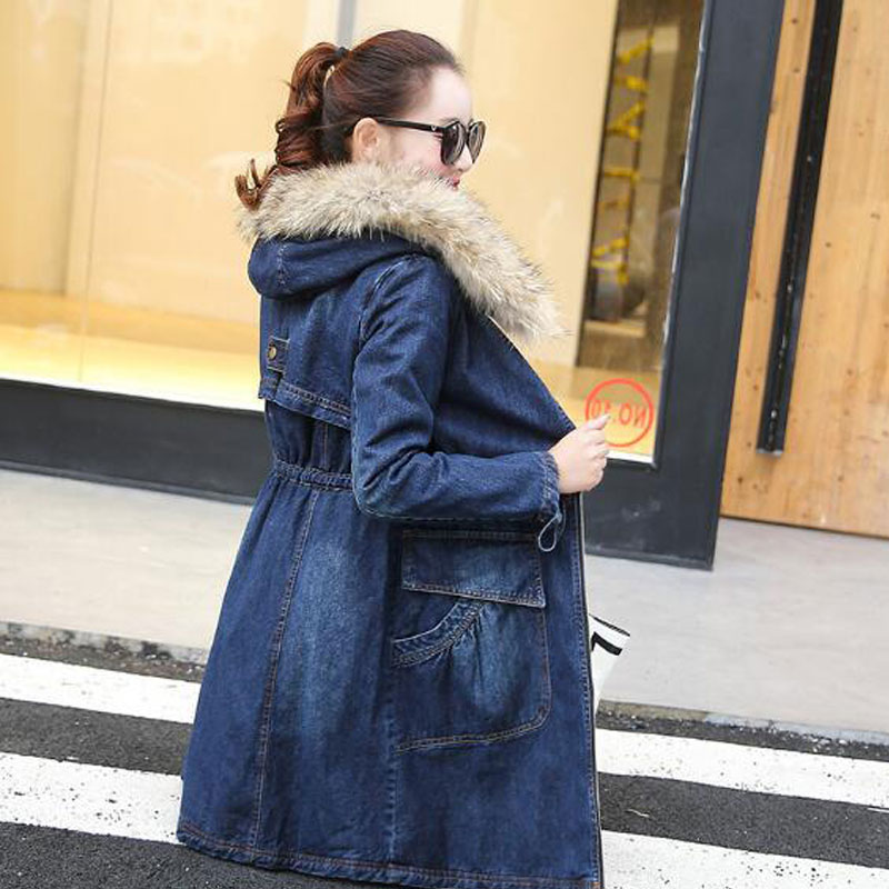 Denim Vintage As Veste Fourrure Chaud Manteau Femelle Nouveau D'hiver Épaissir Doublure Hiver De Longue 2018 A5888 Femmes Show Yatdg