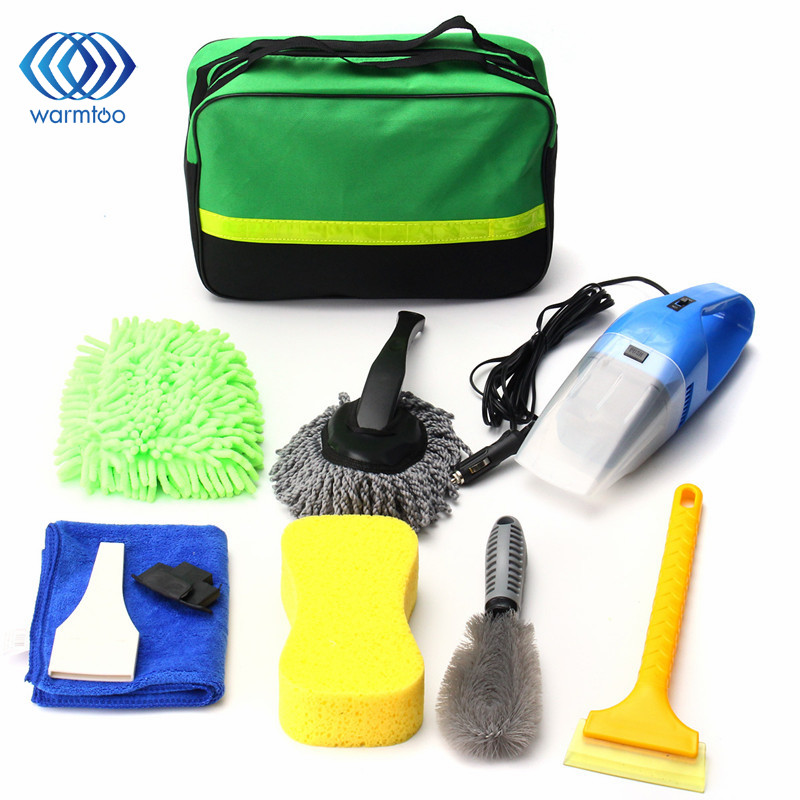 8 PCS/Set Universal Cleaning Tools for Car Wash Clean Interior Exterior Vacuum Cleaner+Shovel+Sponge+Glove For Home Sofa car cleaning sponge
