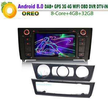 Android 8.0 WiFi 3G RDS BT USB Car Multimedia Player For BMW 1 Series E81 E88 E82 Coupe Convertible Autoradio DAB+ GPS DVD SD image