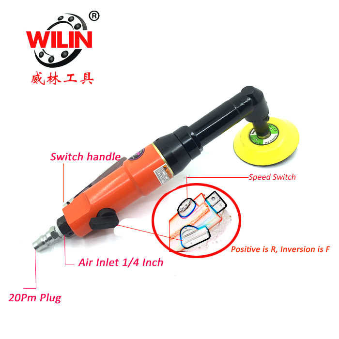 3 Inch Micro Min Pneumatic Angle Grinder Car Headlights Polishing Door Handle And Narrow Samll Area  Point Detail Paint Repair3 Inch Micro Min Pneumatic Angle Grinder Car Headlights Polishing Door Handle And Narrow Samll Area  Point Detail Paint Repair