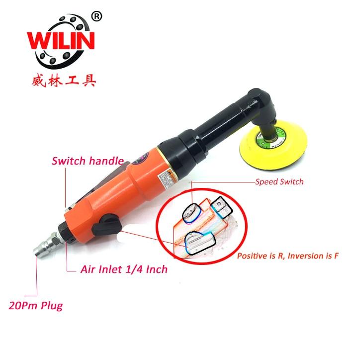3 Inch Micro Min Pneumatic Angle Grinder Car Headlights Polishing Door Handle And Narrow Samll Area Point Detail Paint Repair