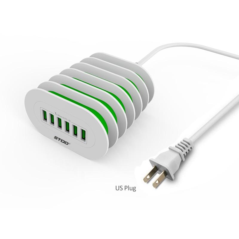 STOD Multi Port USB լիցքավորիչ 6 պորտի - Բջջային հեռախոսի պարագաներ և պահեստամասեր - Լուսանկար 5
