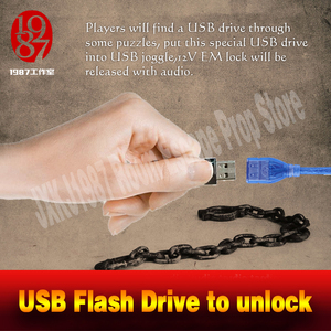 Image 2 - Room escape props real life adventurer game USB Flash Drive prop plug the usb disk U disk to unlcok from JXKJ1987 chamber room