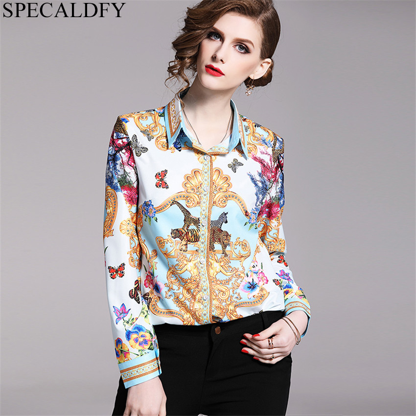 Womens Tops And Blouses 2019 Spring High Quality Runway Shirt Women Long Sleeve Shirts Elegant Print Vintage Blusa Feminina-in Blouses & Shirts from Women's Clothing on AliExpress - 11.11_Double 11_Singles' Day 1