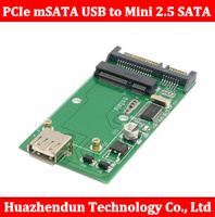 PCIe mSATA מצב מוצק כונן קשיח כדי להפוך mSATA SSD מיני USB 2.5 SATA ממשק כפול מתאם