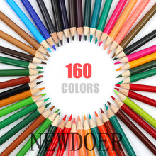NEWDOER China High Quality 120 / 160 Different Color Pencil Safety Non-toxic Oily Lapis de cor Artist Professional Painting Set