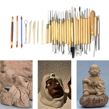 30pcs Clay Sculpting Tools Arts Crafts Pottery Carving Tool Set Pottery Ceramics Wooden Handle Modeling Polymer Pottery Tools