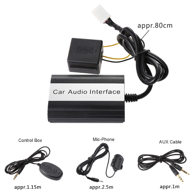 Car-Styling Bluetooth Kits MP3 AUX Adapter Interface For Toyota Lexus Scion 2003-2011 Automobiles Bluetooth Car Kit