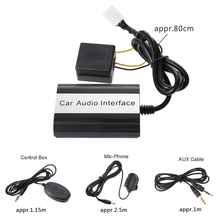 Car-Styling Bluetooth Kits MP3 AUX Adapter Interface For Toyota Lexus Scion 2003-2011 Automobiles Bluetooth Car Kit bluetooth hands free adaptor car integrated usb aux jack interface for volkswagen touran 2003 2011