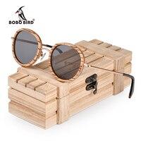 BOBO BIRD owalne okulary przeciwsłoneczne damskie spolaryzowane drewniane okulary przeciwsłoneczne w drewniane pudełko na prezent metalowa świątynia gafas uv400 mujer W-AG027