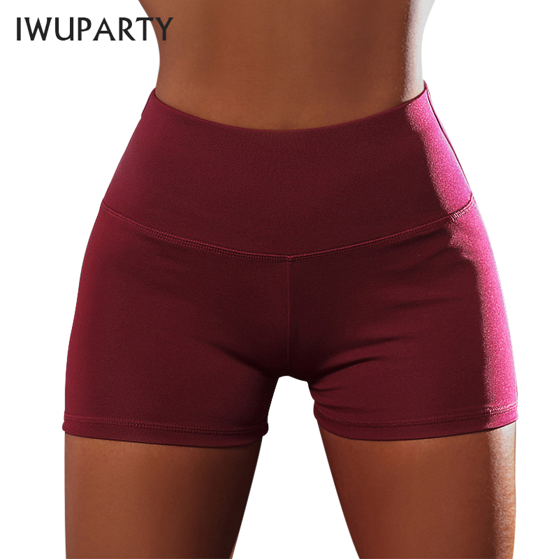 Summer Casual Gym Sport Shorts Women High Waist Elastic Booty Scrunch Short Fitness Femme Butt Push Up Sexy Workout Short Skinny