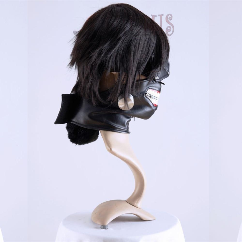 Athemis Tokyo Ghoul Kaneki Ken Mask Tənzimlənən fermuar maskaları - Karnaval kostyumlar - Fotoqrafiya 4