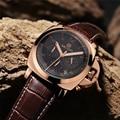 Projeto megir nova moda militar do exército relógio de negócio masculino calendário relógio cronógrafo dos homens do esporte relógios de pulso de luxo de couro