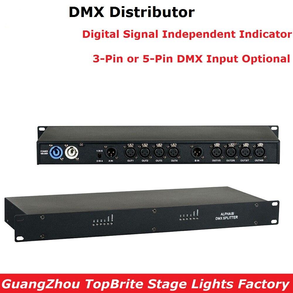1XLot регулятор сценического освещения DMX512 разветвитель света разделитель усилителя сигнала профессиональный DMX Дистрибьютор для сценическ...