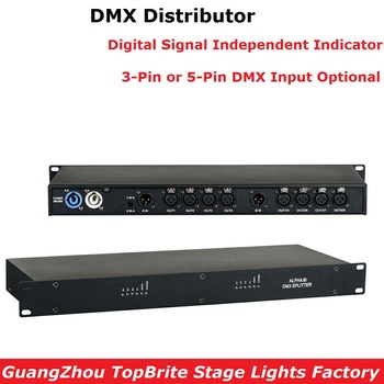 1XLot Stage Lighting Controller DMX512 Splitter Light Signal Amplifier Splitter Professional DMX Distributor For Stage Equipment