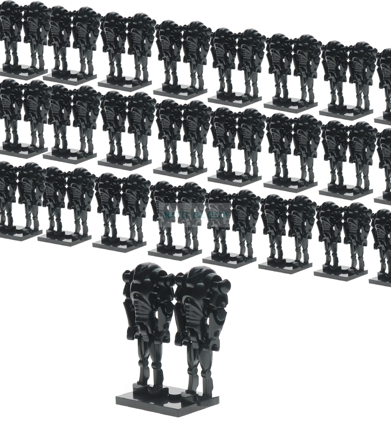 Wholesale 100pcs/lot Star Wars Super Battle Droid Figures Starwars Model Set Building Blocks kits Brick kids toys hobbies
