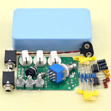 DIY Overdrive Guitar Effect Pedal kit  High True Bypass with sky blueAluminum Alloy Housing  free shipping