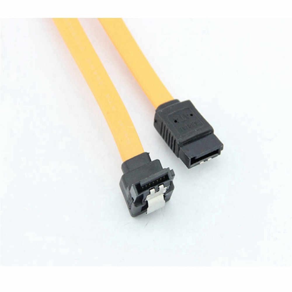 Ecosin2 Computer Kabels & Connectoren 45CM SATA 3.0 III SATA3 6 Gb/s SSD Harde Schijf Data Direct/Rechts hoek Kabel Z0508